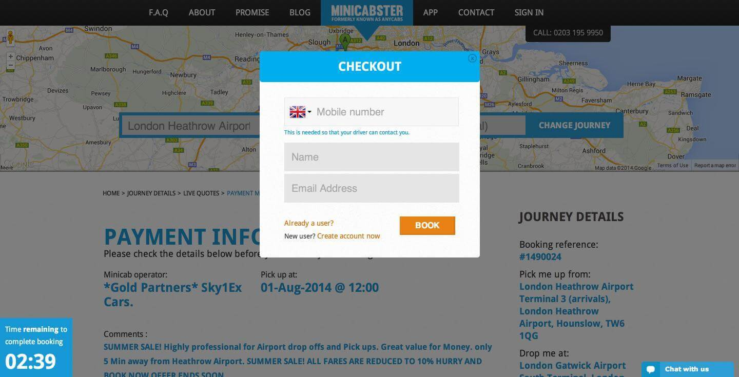 Minicabster- Booking (2)